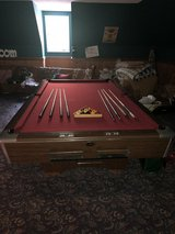 Gandy 9' regulation pool table with accessories in Byron, Georgia
