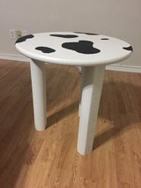 New Cow themed table in Conroe, Texas