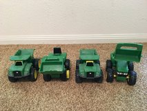 Toy trucks in Cleveland, Texas