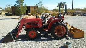 operated and tractor in Yucca Valley, California