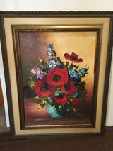 Painting, - not a print - Flowers (Poppies?) in a vase. in Ramstein, Germany