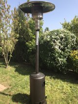 Outdoor heater with a propane tank in Ramstein, Germany