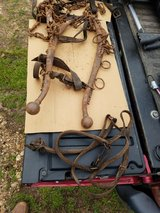 old horse harness,chains,and hames in Rolla, Missouri