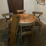 Dining Table with 4 chairs and leaf in Baytown, Texas