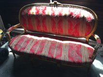 Ornate Gold Leafed Loveseat in French Rococo Style in Wilmington, North Carolina
