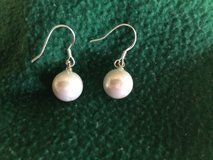 Pearl (8mm faux) earrings with 925 wires in Fort Leonard Wood, Missouri