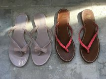 2 Pairs of Women's Dressy Flip Flop Sandals - Pink Size 9 in St. Charles, Illinois