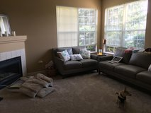 Leather couch and loveseat set in Chicago, Illinois