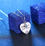 S925 Sterling Silver Engraved Keep Me in Your Heart Pendant Necklace for Grandma Mother Daughter... in Fort Campbell, Kentucky