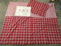 Red Plaid TWIN Duvet Cover, Sham & Accent Pillow Case from Pottery Barn in Westmont, Illinois