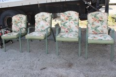 Patio Chairs (4) With Cushions in Wilmington, North Carolina