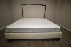 King-size Tufted bed (including mattress) in Spring, Texas