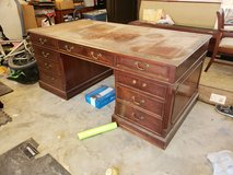 Antique large double sided desk in Cleveland, Texas