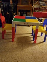 Lego table & 2 chairs in Naperville, Illinois