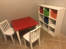 Kid table set & cube storage in 29 Palms, California