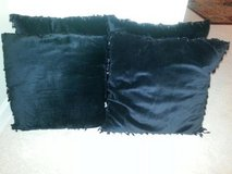 4 Designer Plush Black Pillows with Fancy Beads/Like New/Soft to Touch. in Chicago, Illinois