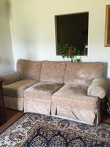 Beige Couch with ottoman in Byron, Georgia