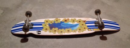 "skate board.   Length:  45""  width: 9.5""   Base:  29"" Wheels diameter 2.5"" and 10"" apart. Base: ... in Bolingbrook, Illinois"