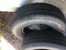 """14"""" trailer tires, almost new in Naperville, Illinois"""