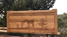 Rustic Wooden Firewood Bench Boxes in Alamogordo, New Mexico