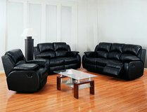 Kenia - Sofa-Loveseat-Chair in black or brown including delivery in Spangdahlem, Germany