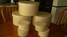 Paper Mache craft boxes (round) in Lockport, Illinois