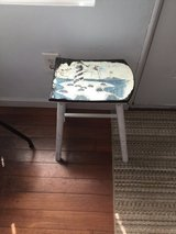 Beachy wooden distressed stool in Hampton, Virginia