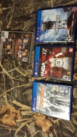 1 ps3 game and 3 ps4 games in Fort Polk, Louisiana