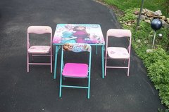 KIDS FOLDING TABLE AND CHAIRS in Aurora, Illinois