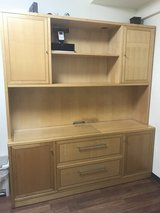 Credenza with hutch / office desk in Okinawa, Japan