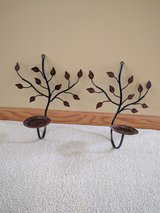 Two Rustic Metal Wall Sconce $5.00 in Cary in Algonquin, Illinois