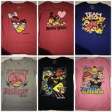 6 piece Size large angry birds t-shirts in Leesville, Louisiana