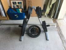 250 pound weight set in Fort Hood, Texas