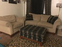 FREE OTTOMAN and matching throws in Fairfield, California