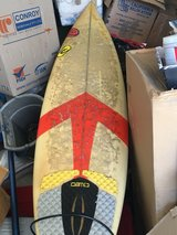 """mike Richards surfboard 6'1"""" with leash in Yucca Valley, California"""