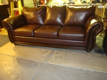 Brown bonded leather sofa, great condition! in Las Vegas, Nevada