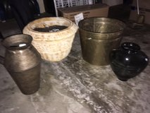 Planters/Vases - Solid Brass, Heavy Terra Cotta, Tin and Glass Vase in Cleveland, Ohio