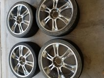 4 rims with tires for sale in El Paso, Texas