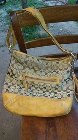 Tan & Brown Coach Purse in The Woodlands, Texas