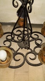 Wrought iron light in Ramstein, Germany