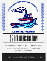 Steilacoom Cooperative Preschool enrolling Now for Fall in Fort Lewis, Washington