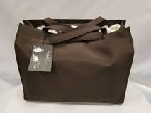 NEW Nicole Miller Espresso Microfiber diaper bag with accessories in Chicago, Illinois