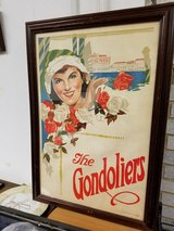 FRAMED GILBERT & SULLIVAN: THE GONDOLIERS, ORIGINAL POSTER, 1920's in Westmont, Illinois