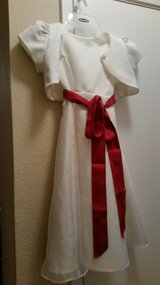 Flower girl dress with jacket size 4 in Fairfield, California