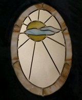Vintage Tiffany Style Stained Glass Sun & Clouds Art Wall Mirror in Fort Leonard Wood, Missouri