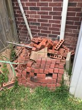 almost full pallet of beautiful red bricks, new in Kingwood, Texas