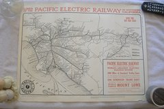 """""""PACIFIC ELECTRIC RAILWAY"""" Poster in 29 Palms, California"""