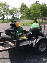 John Deere LT166 model tractor 16hp. twin cylinder engine hydro. the one with the hood in Yorkville, Illinois
