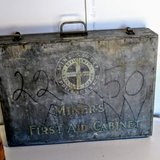 antique miner's first aid cabinet in Cherry Point, North Carolina