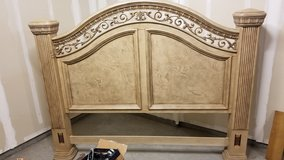 KING BED HEADBOARD   Cordoba Antiguo Blanco Bed Wynwood Furniture In  Vacaville, California